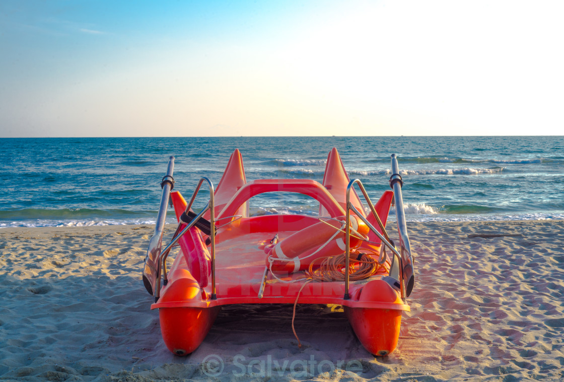 """lifeguard boat"" stock image"