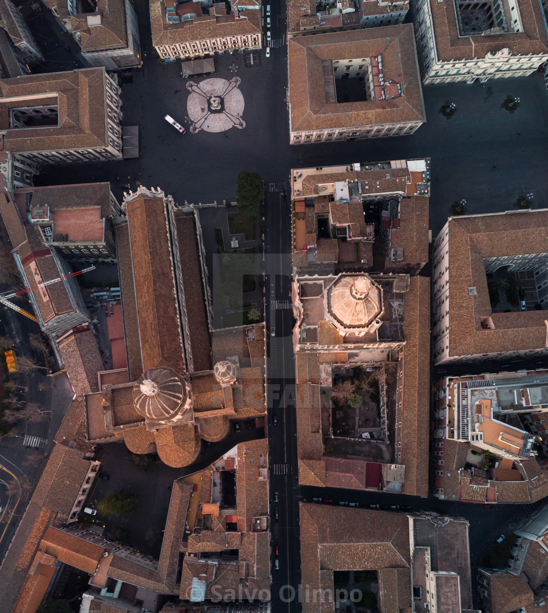 """Catania vertical view"" stock image"
