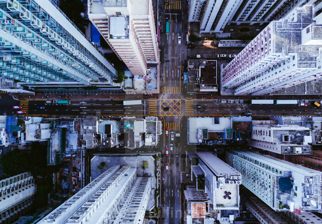 """Hong Kong Intersection"" stock image"