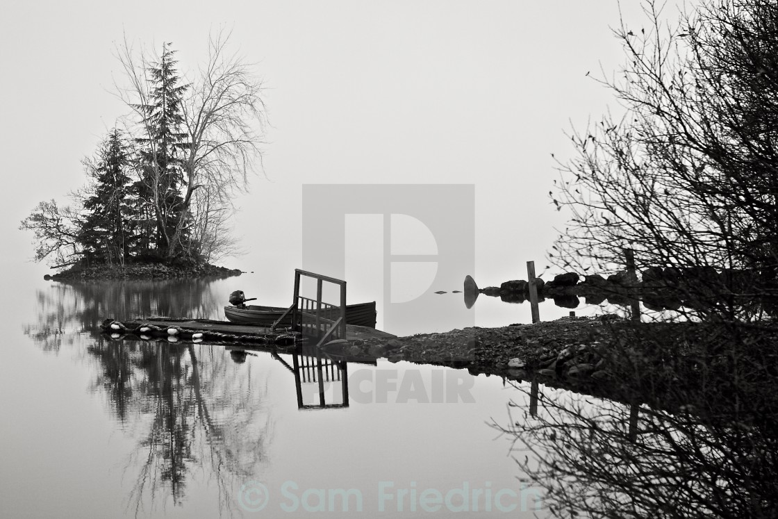 """Boat on the banks of Loch Awe"" stock image"