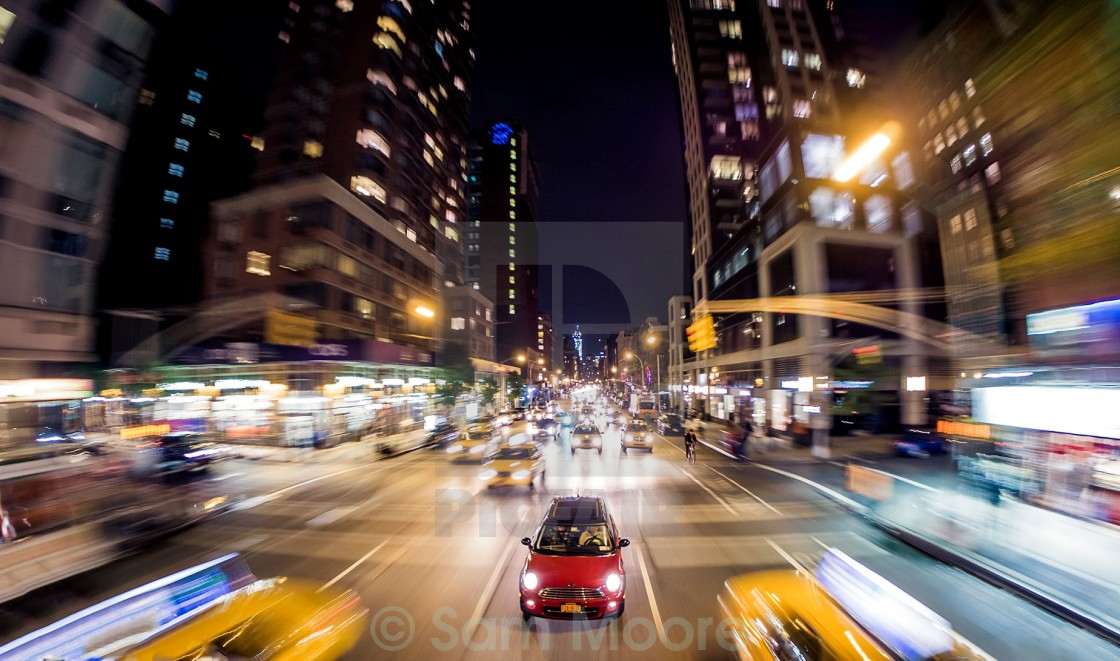 """A mini in new york"" stock image"
