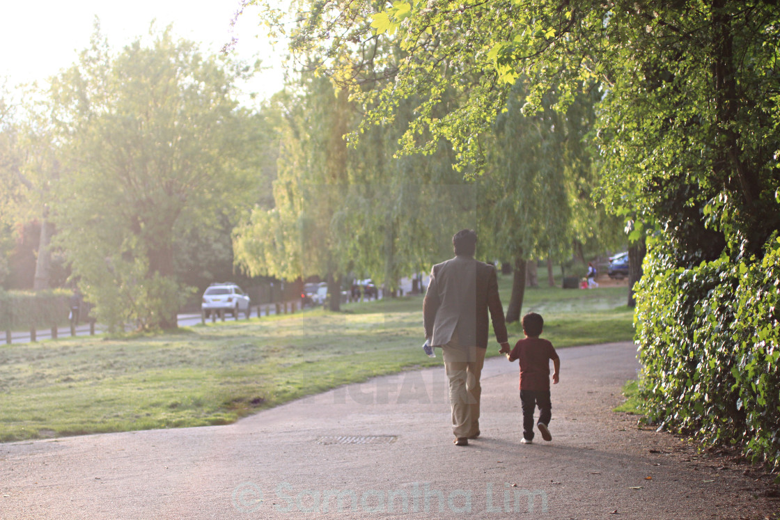 """Strolling down the park"" stock image"