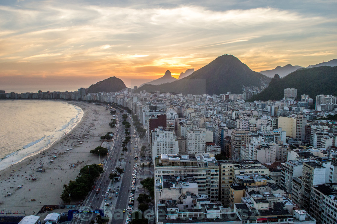 """View of Copacabana beach"" stock image"