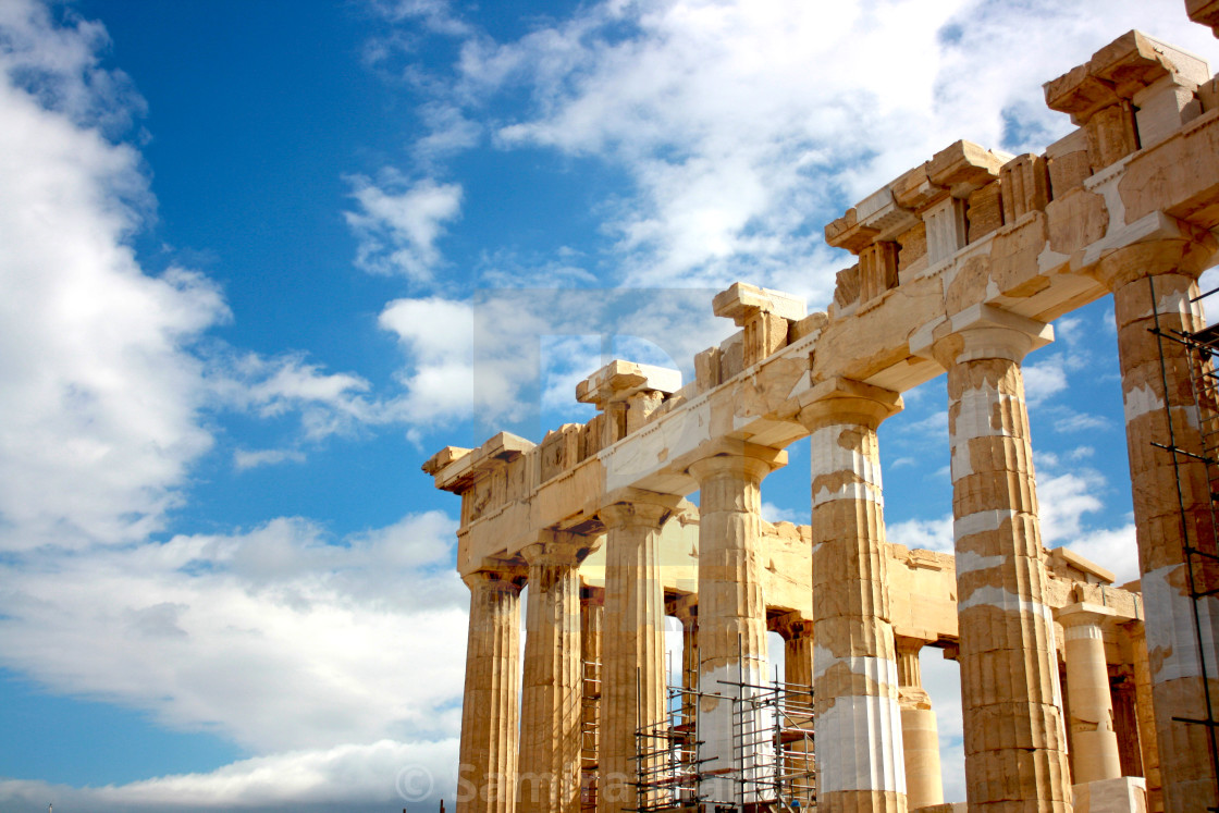 """The Parthenon"" stock image"
