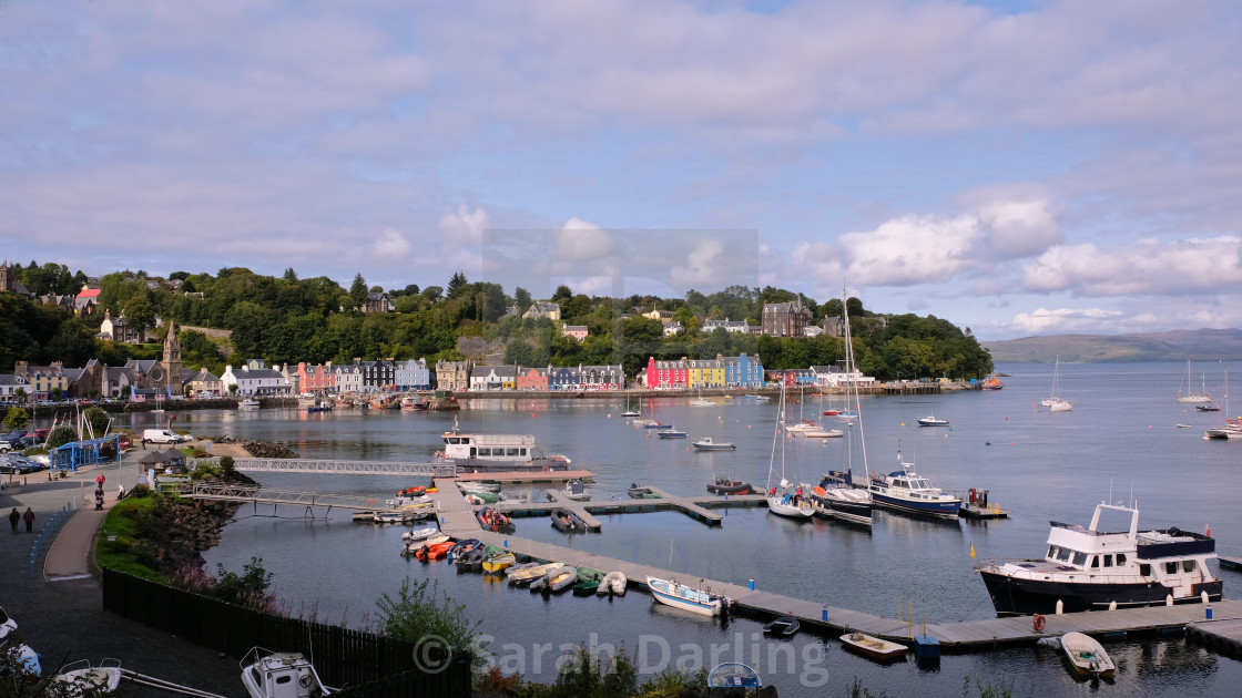 """""""Tobermory Harbour"""" stock image"""