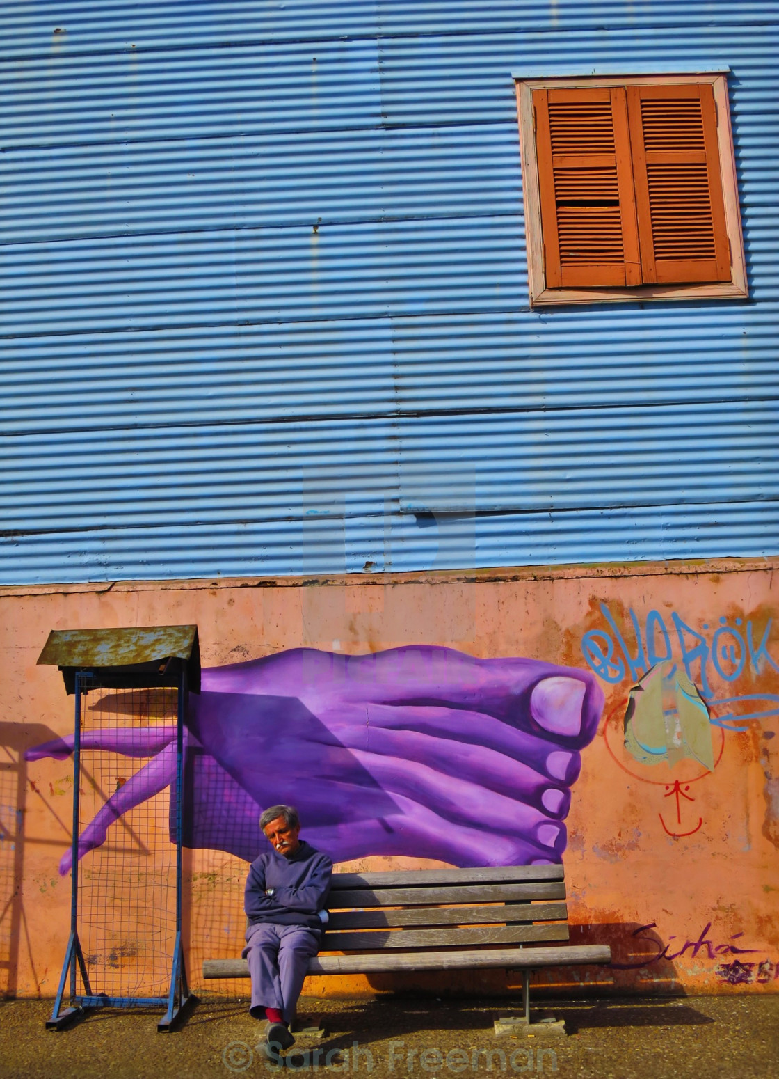 """Siesta time in La Boca"" stock image"