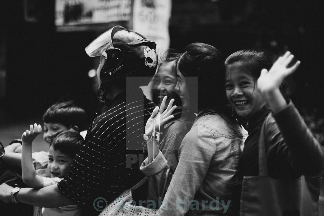 """Cambodian family"" stock image"