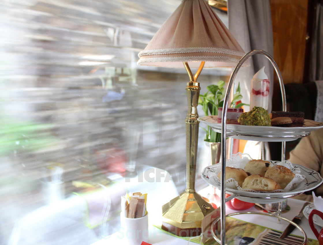 """Tea on the Orient Express"" stock image"
