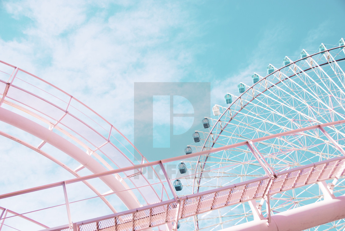 """Pastel rollercoaster"" stock image"