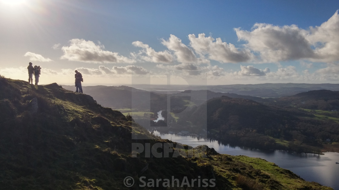 """Lake Windermere on a Perfect Day."" stock image"