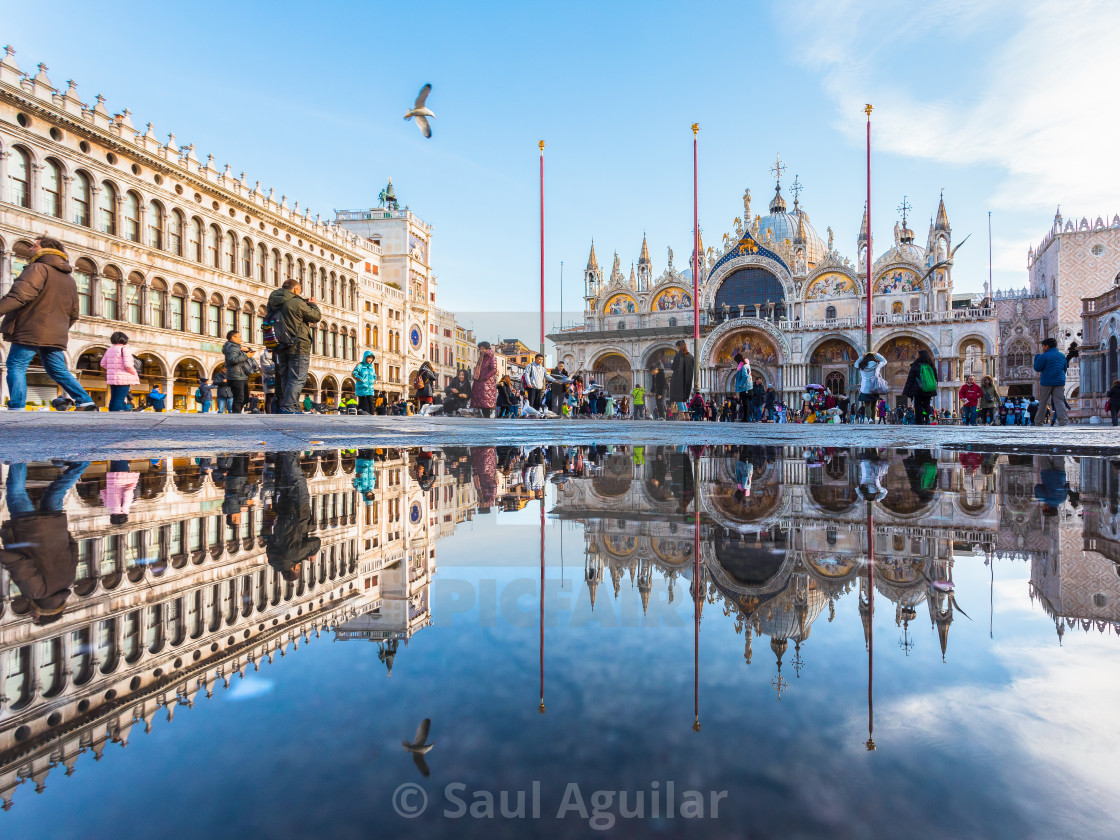 """Reflections of Venice"" stock image"