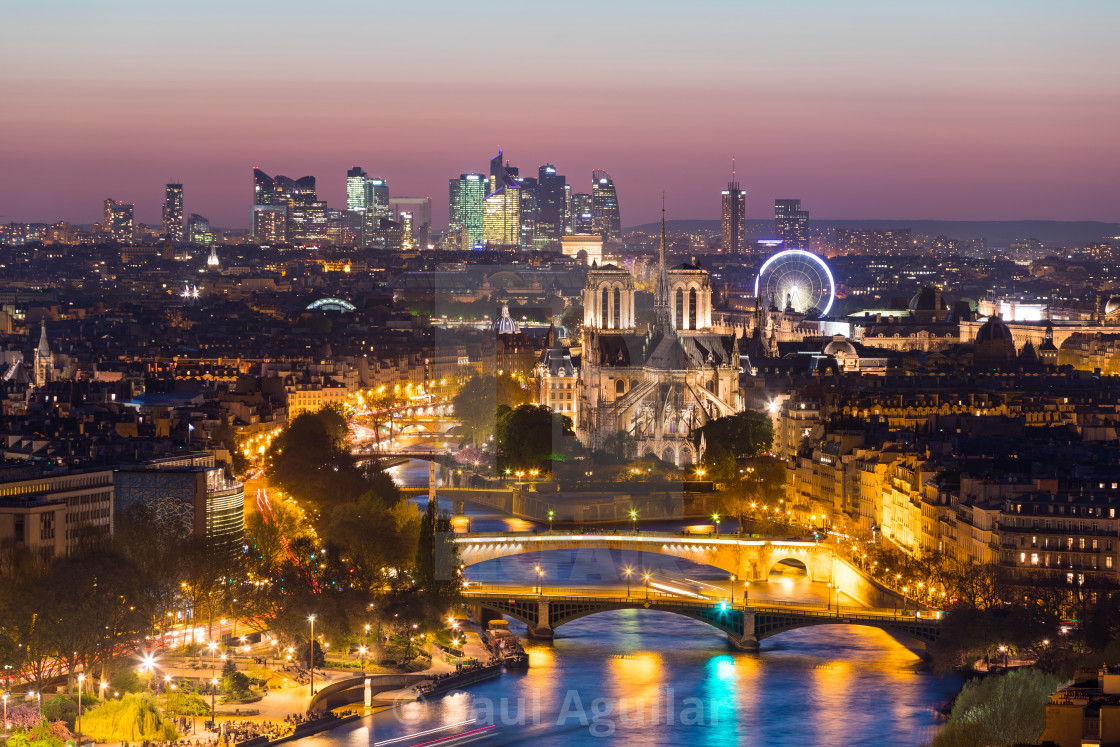 """Paris by night"" stock image"