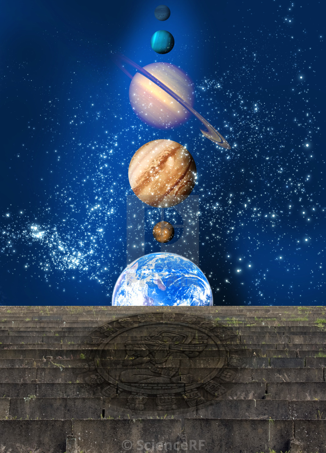 Planetary alignment, artwork - License, download or print for £39 00