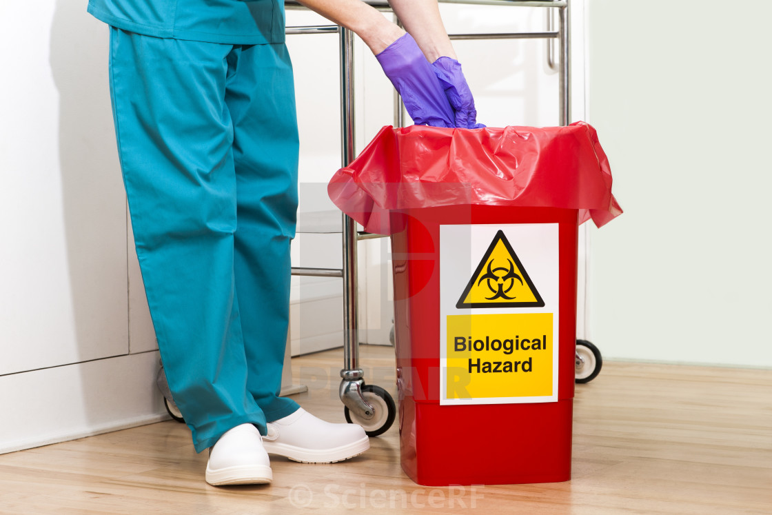 """Clinical waste disposal"" stock image"