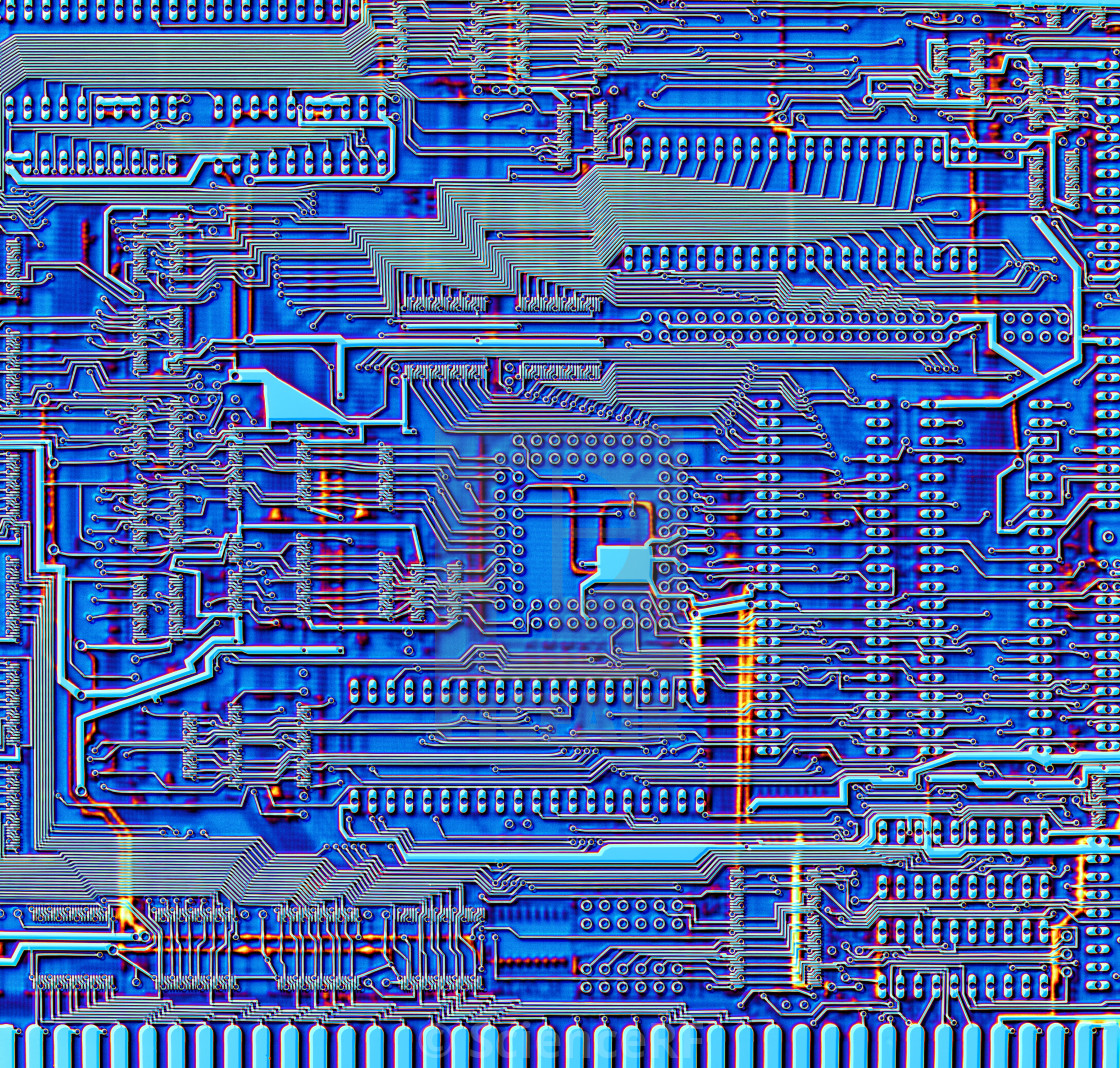Printed circuit board, artwork - License for £39.00 on Picfair