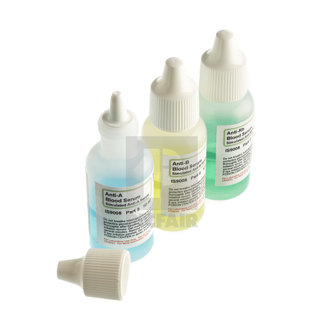 Blood serum samples in plastic bottles - License, download