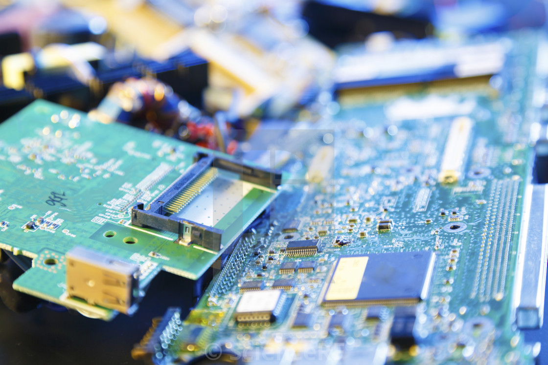 Printed Circuit Board Images Picfair Search Results With Many Electrical Components Stock Photo Recycled Boards Image