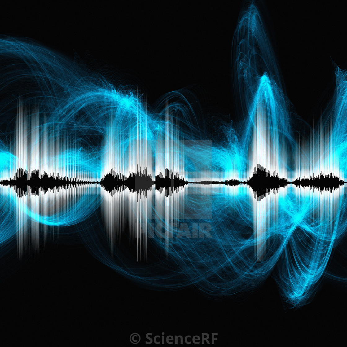 Abstract sound waves - License, download or print for £39 00