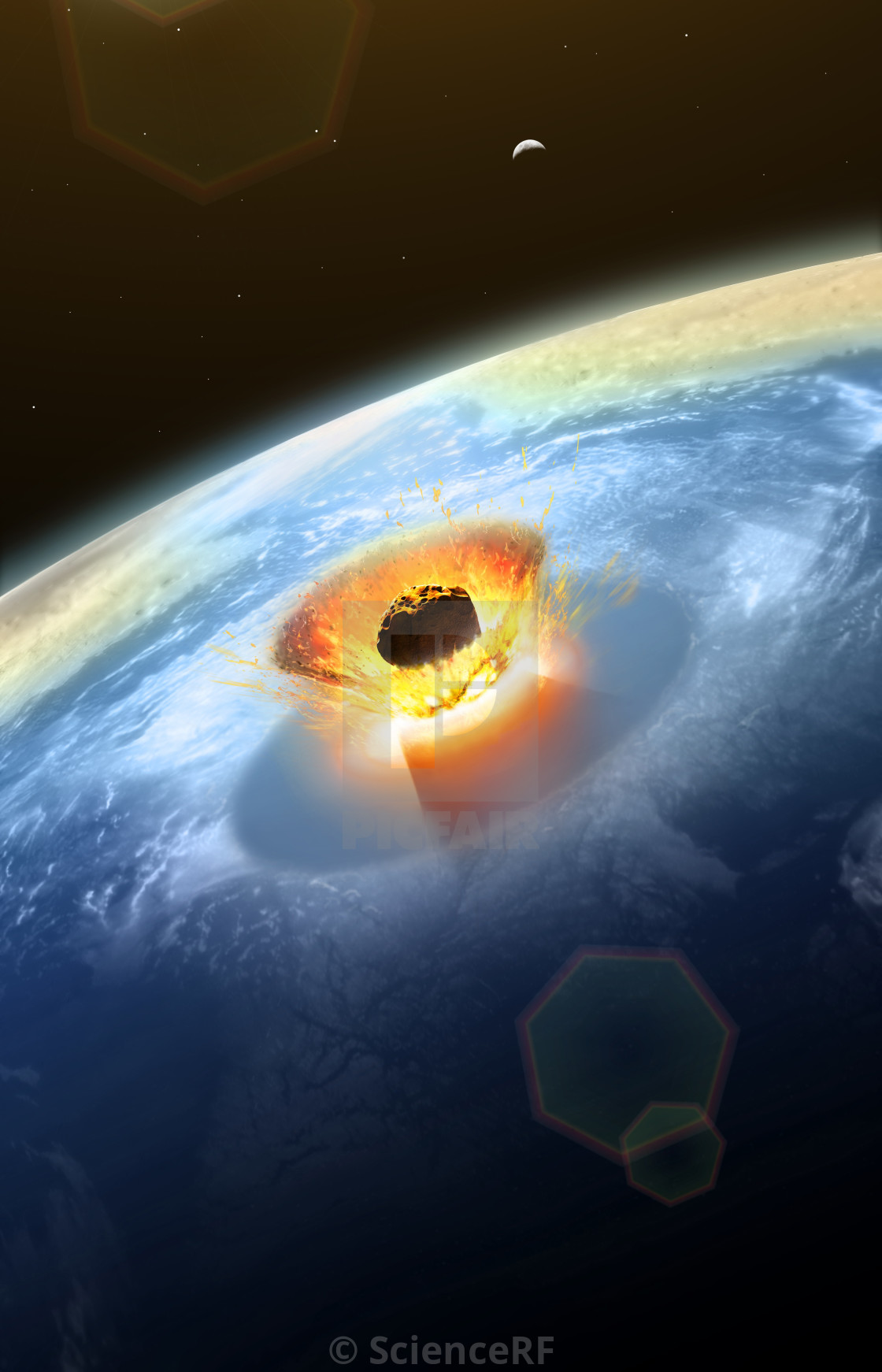 Chicxulub Asteroid Impact - License, download or print for
