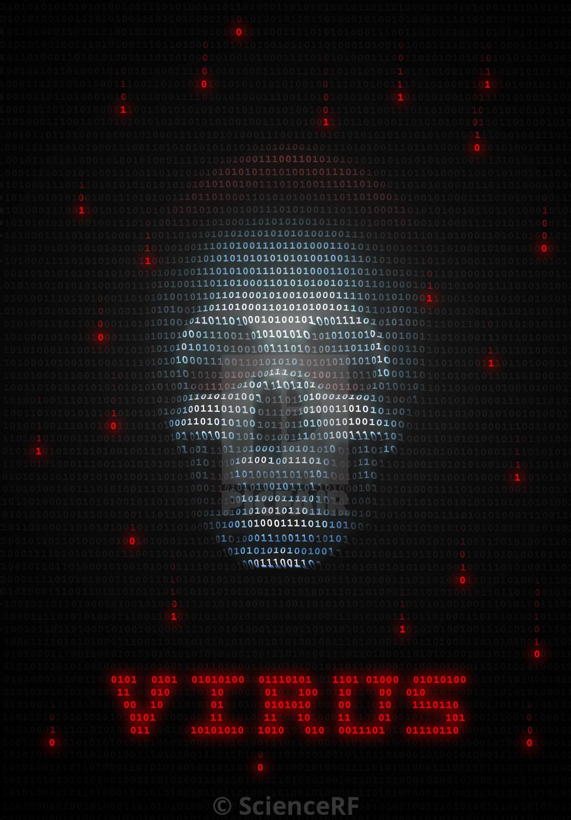 Illustration of Computer Virus or Trojan - License, download or