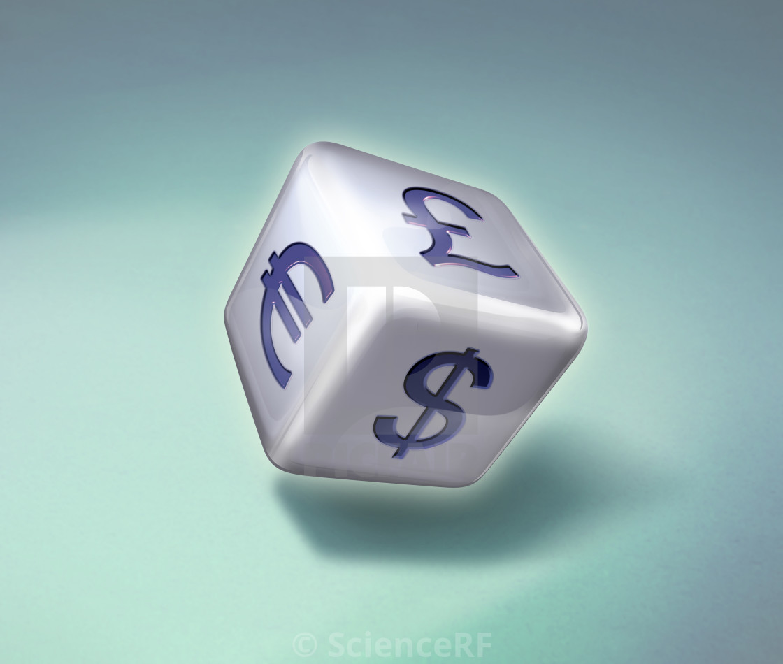 Illustration Of Dice With Various Currency Symbols License For
