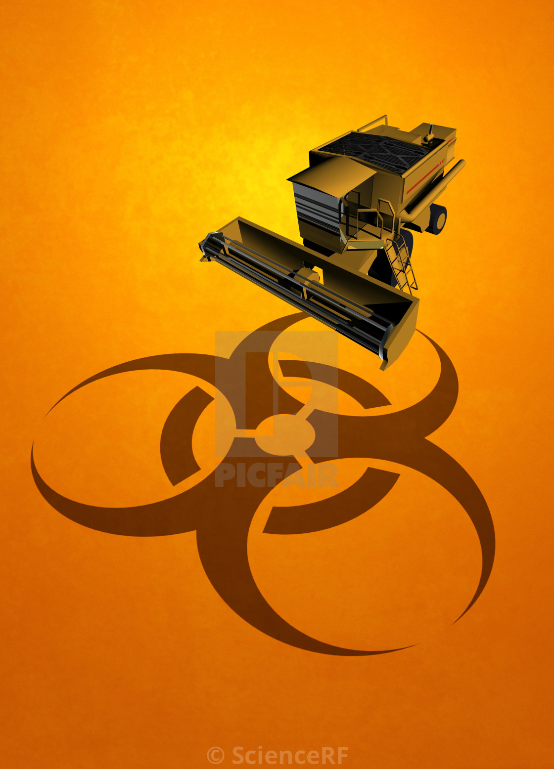 Machinery And Biohazard Symbol Illustration License For 3900 On