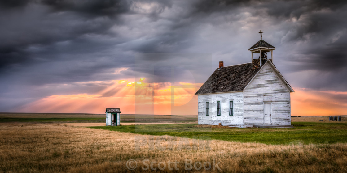 Abbott Church at Sunset - License, download or print for