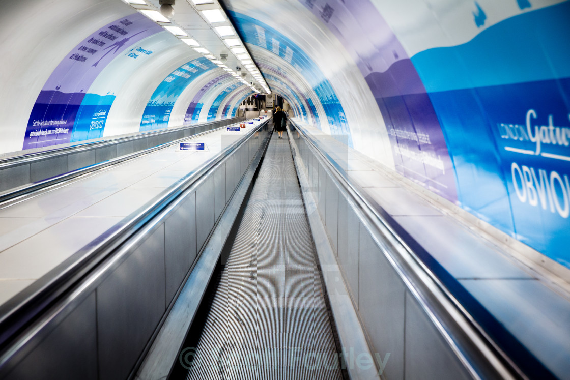 """London Underground Escalator"" stock image"