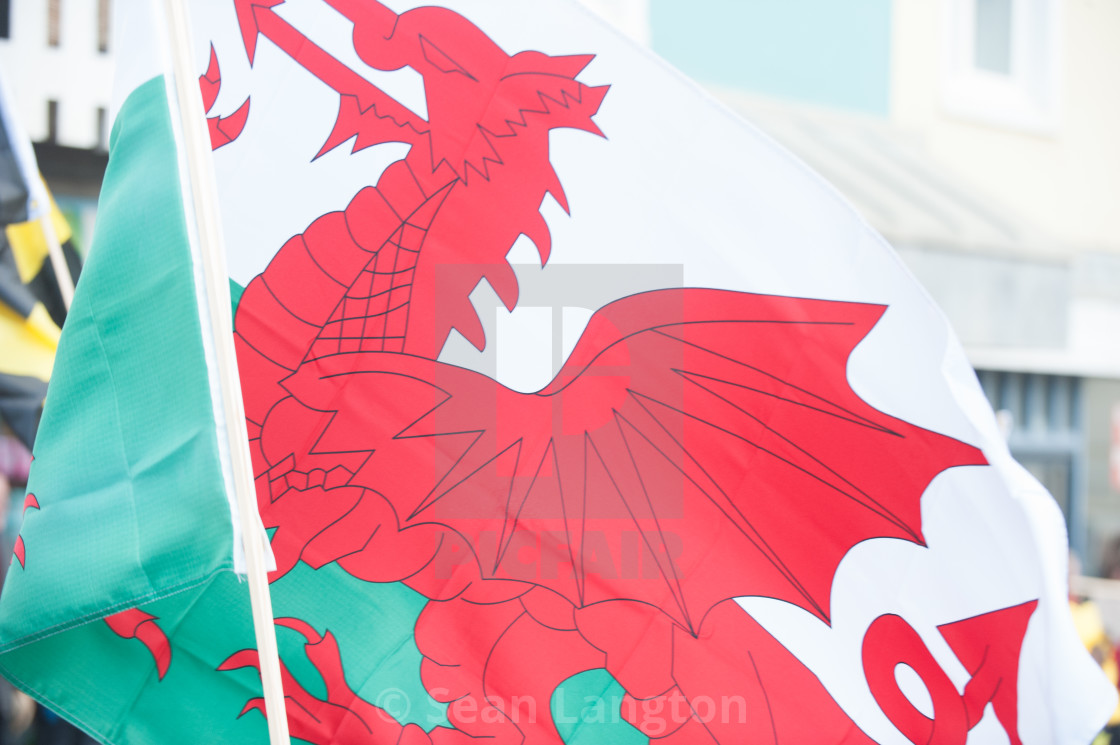 """Welsh Flag"" stock image"
