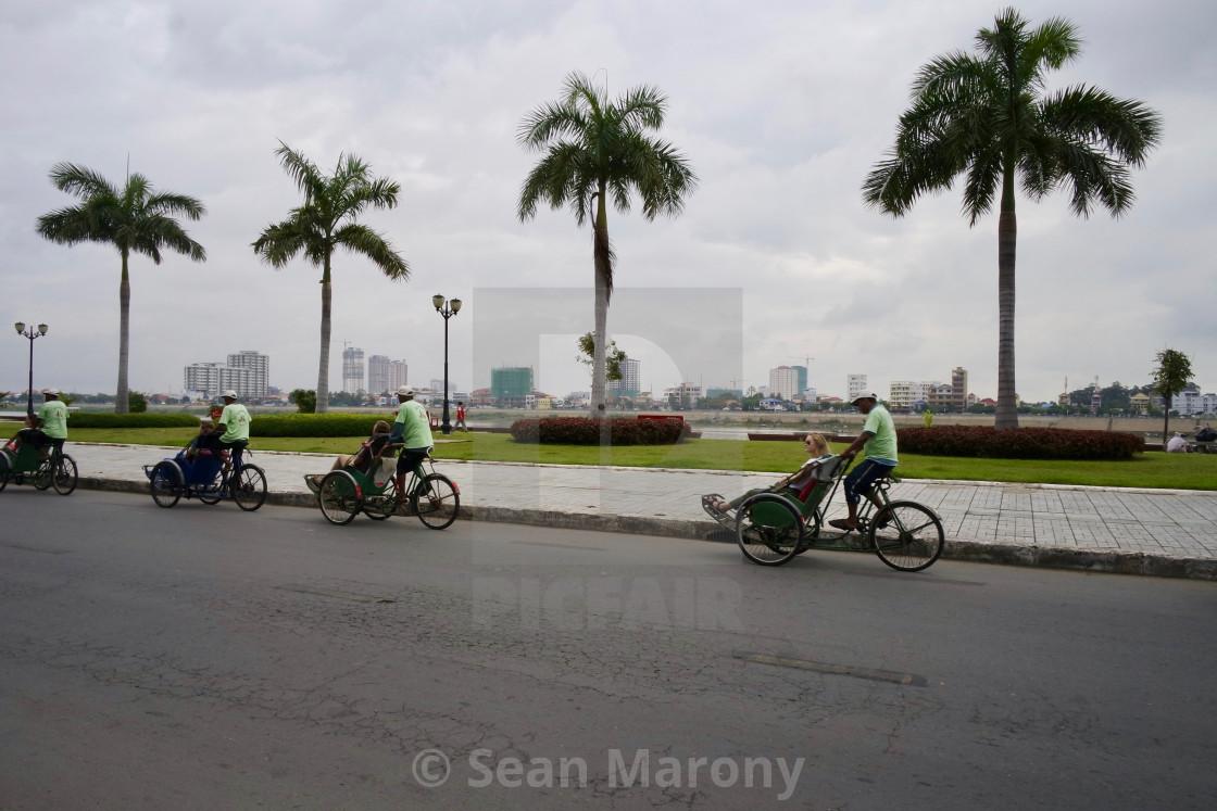 """""""Street scene, Phnom Penh"""" stock image"""