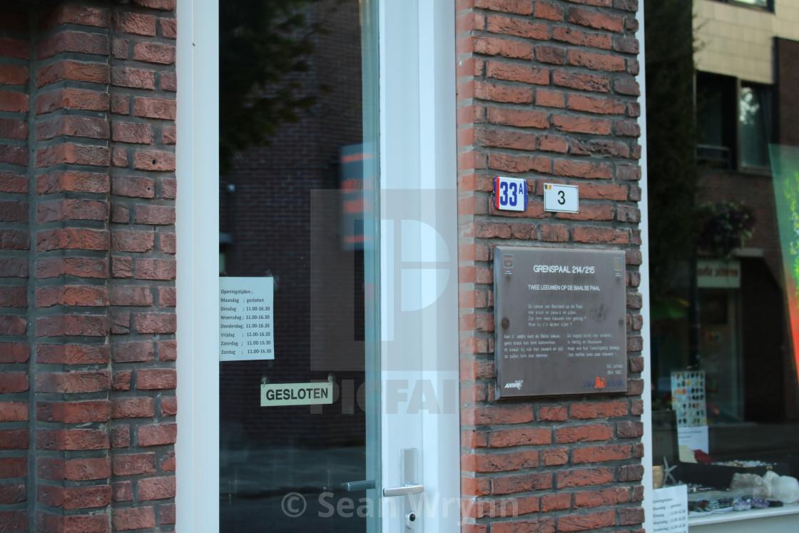 b4fabcefc7b Close-up of Galerie Kunst von Laven, Baarle-Hertog, Belgium and ...
