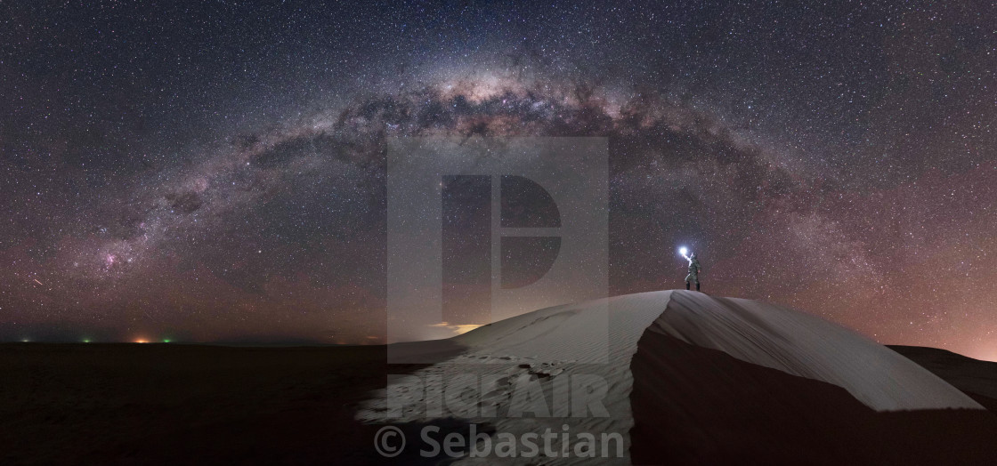"""Panoramic of the milky way"" stock image"