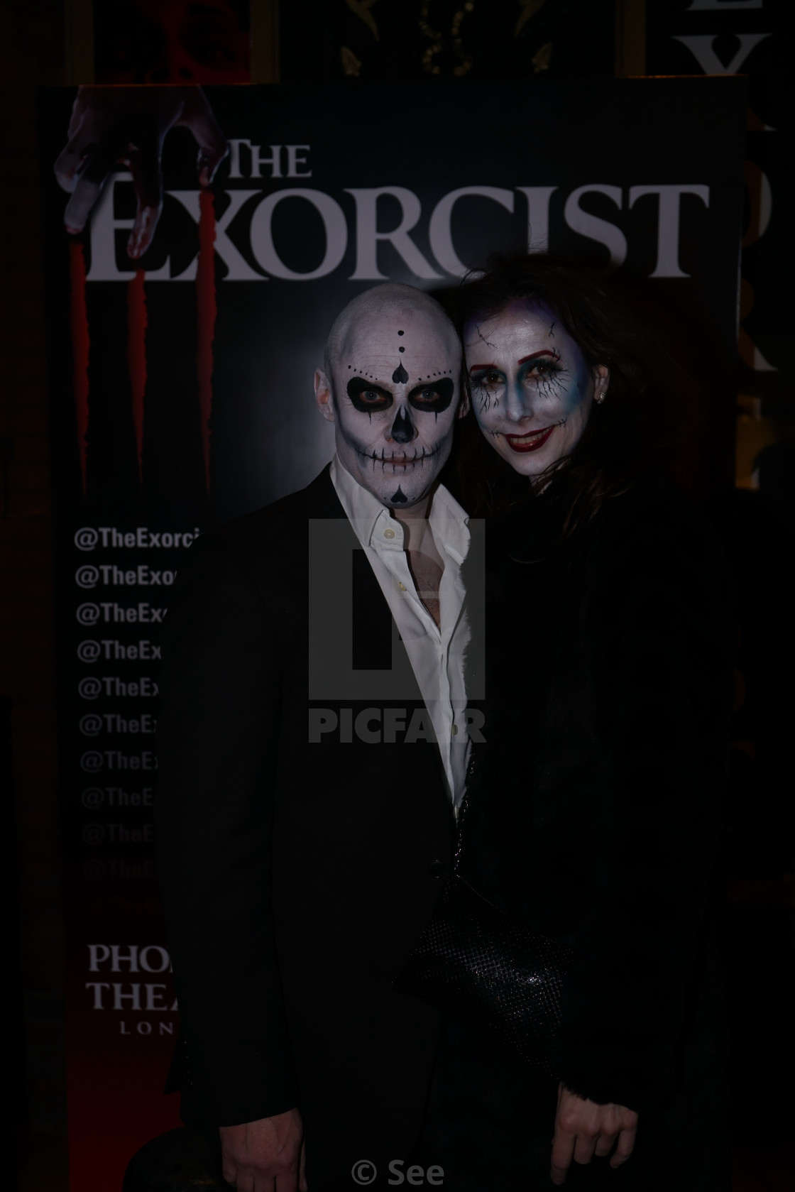 Celebrities arrive at The Exorcist opening Night at Phoenix