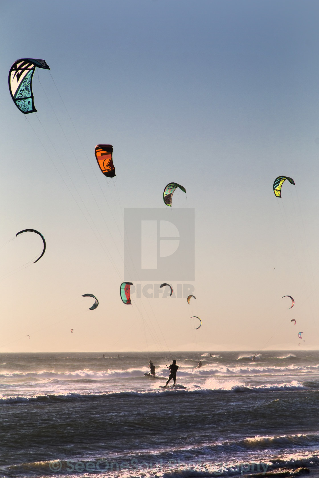 """Kites Dancing in the Sky"" stock image"