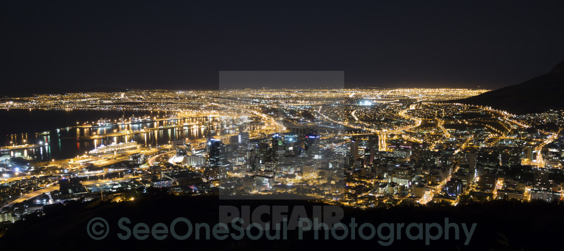 """Cape Town by Night"" stock image"