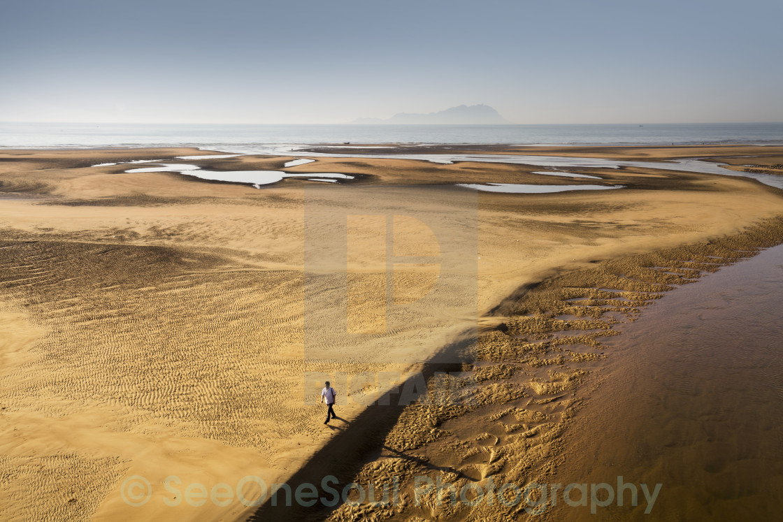 """Low Tide in the Wanggeszhuang River Lagoon"" stock image"