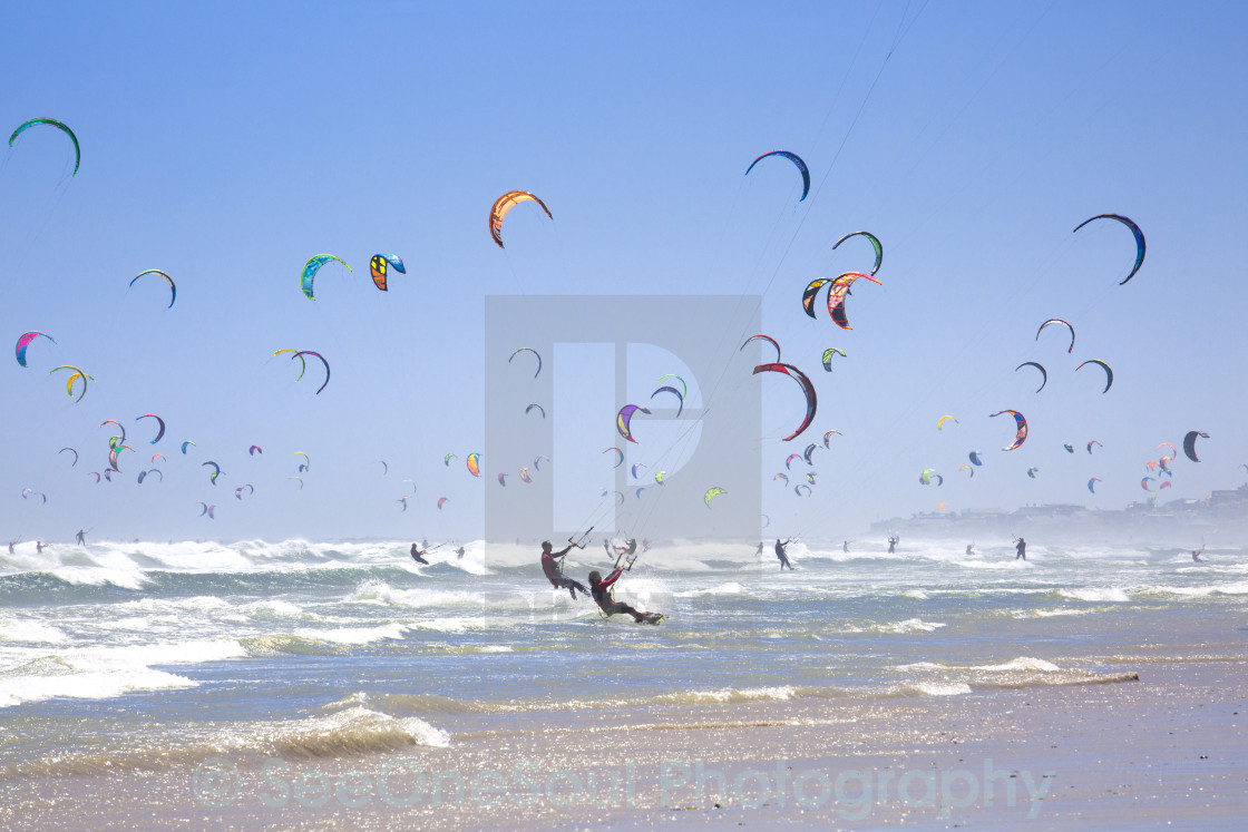 """New Guinness World Record - Kitesurfing Armada South Africa"" stock image"