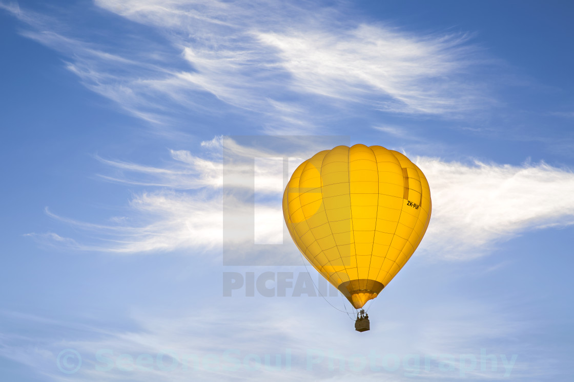 """Yellow Balloon Sunrise"" stock image"
