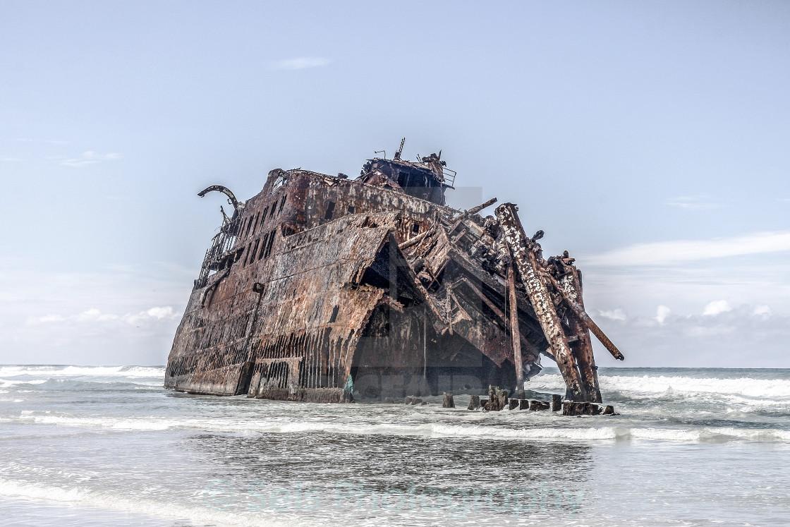 """Ship on the beach"" stock image"