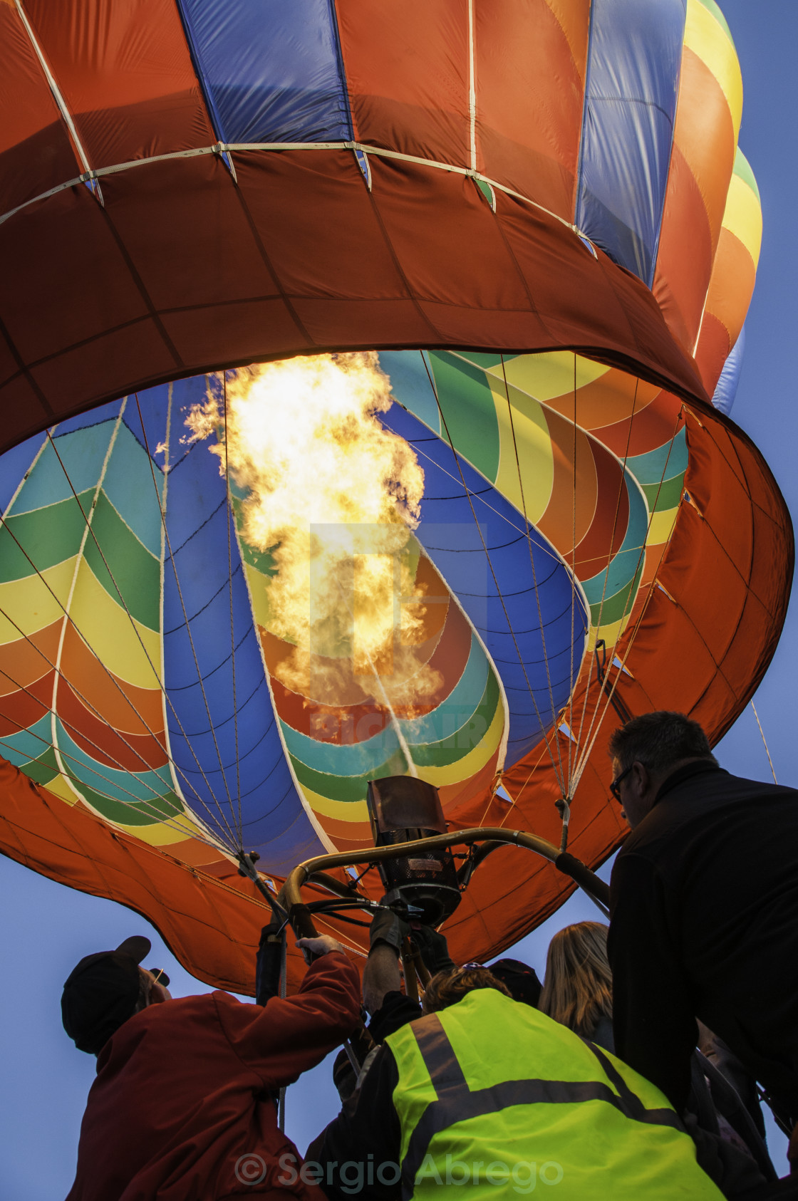 """Hot Air Balloon Take-off"" stock image"