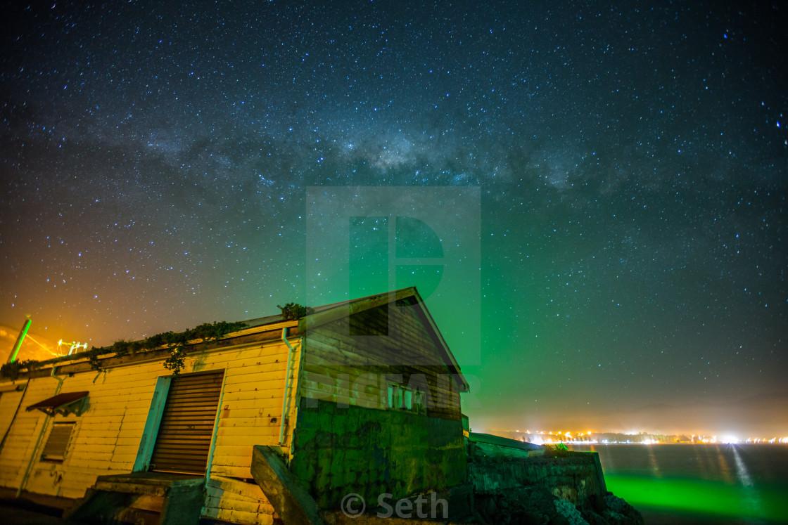 """Amazing Star Sky in New Zealand"" stock image"