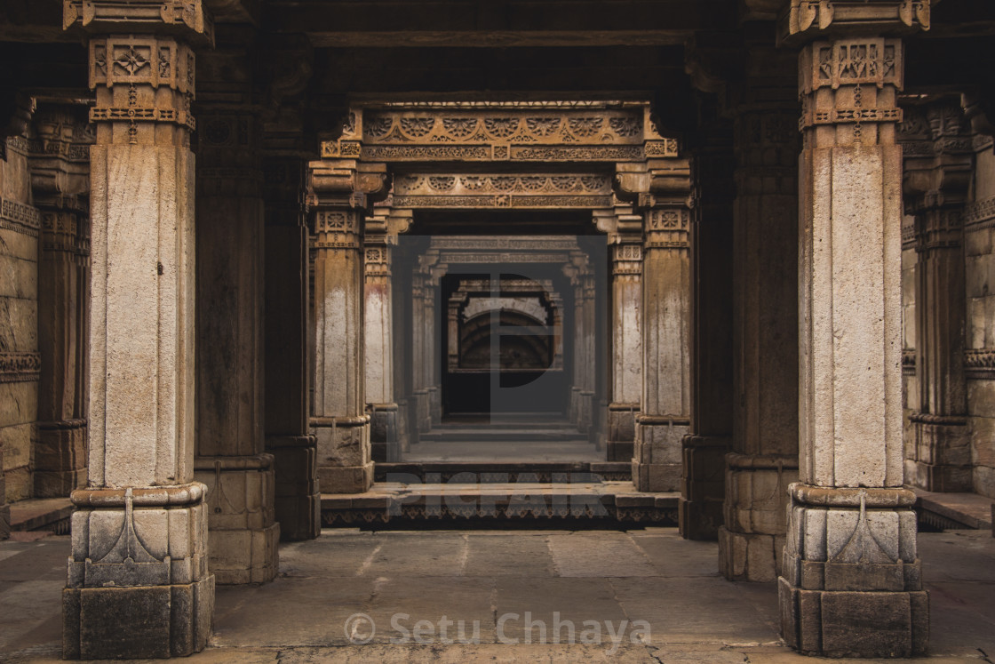 """""""Perspective of a Stepwell"""" stock image"""