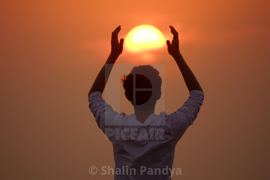 """Chasing the Sun"" stock image"