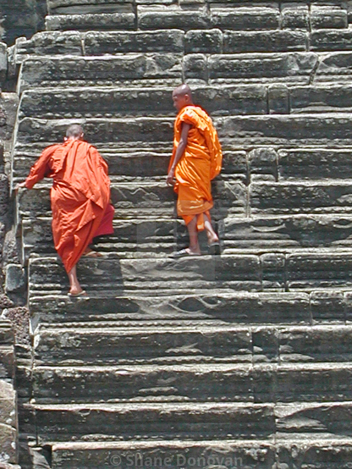 """""""Monks on Stairs"""" stock image"""