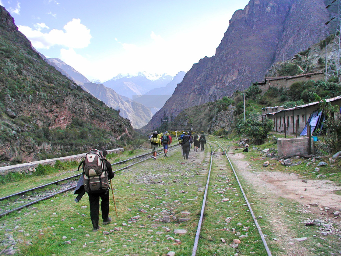 """Inca Trail Start"" stock image"