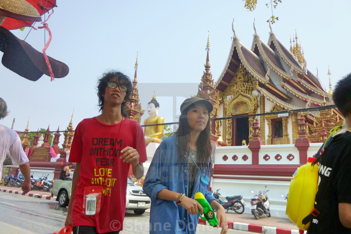 """Songkran Couple"" stock image"
