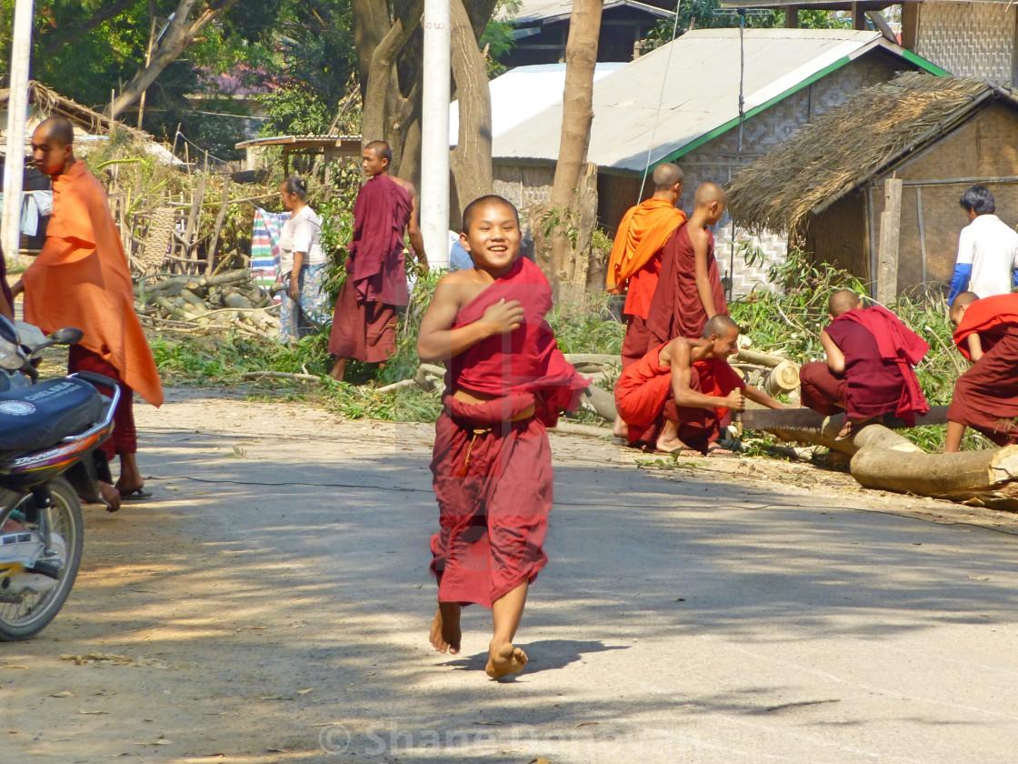 """Running Monk"" stock image"