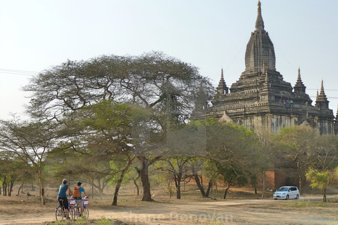 """Bagan Cyclists"" stock image"