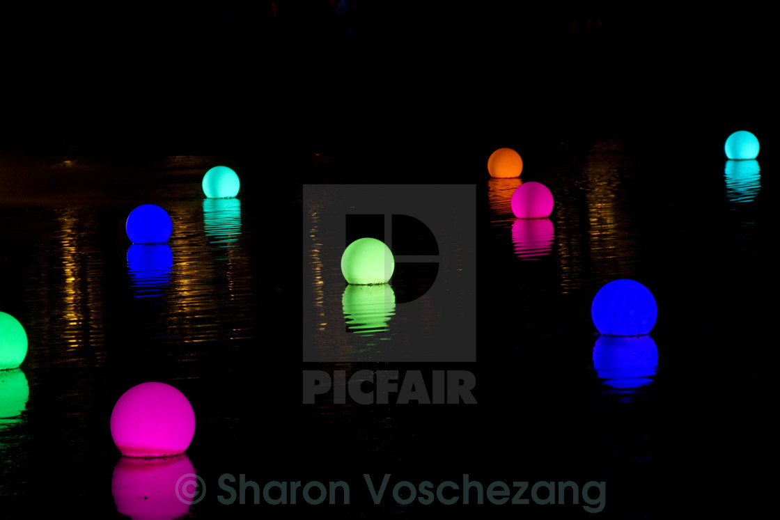 """""""Coloured lights on water"""" stock image"""