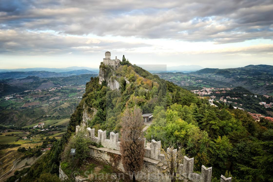 """San Marino Castle"" stock image"